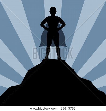 Super hero man silhouette