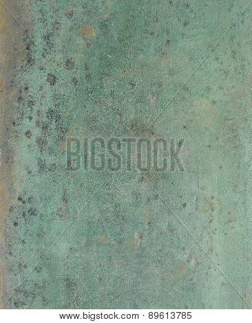 Grunge Bronze Surface In Black Blue Green