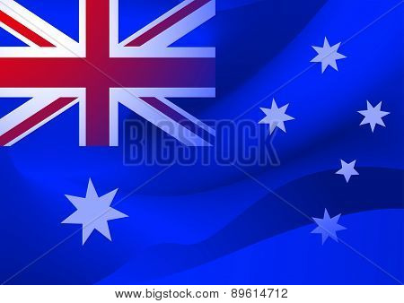 Abstract Australian Flag In The Wind