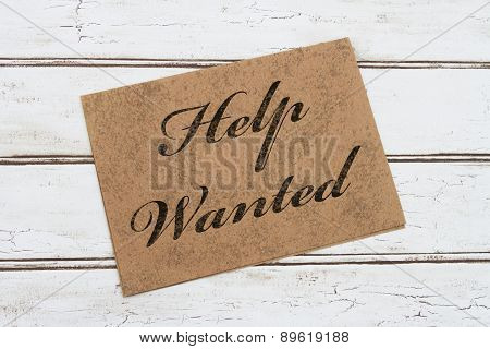 Help Wanted Card
