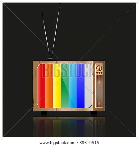Tv Icon, Vector Illustration.