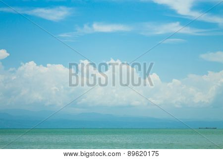Blue sky and cloud over the Gulf of thailand