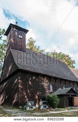 Small wooden church in village Zarova