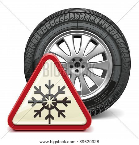 Vector Winter Tire with Sign