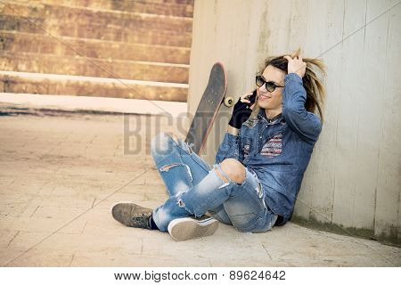 Young Man Talking Phone Applied