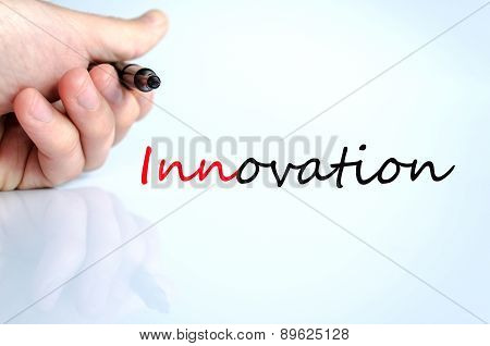 Pen In The Hand Innovation Concept