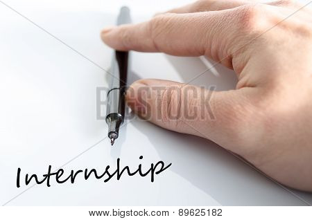 Pen In The Hand Internship Concept