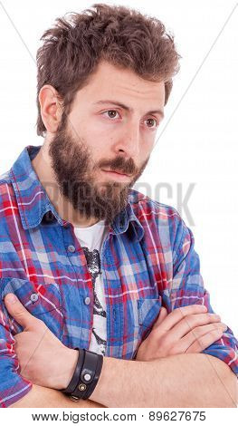 Men In Plaid Shirt