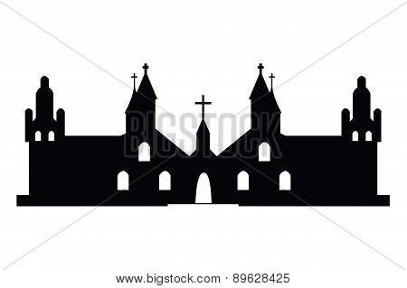 Christian Churches Silhouette