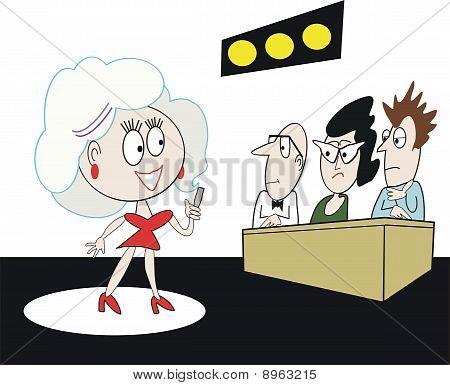Talent contest cartoon
