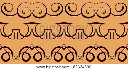 Vector Curbs. Seamless Pattern