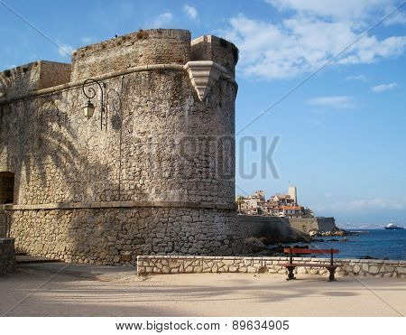 Antibes, France - August 20, 2014: bastion S'Andre