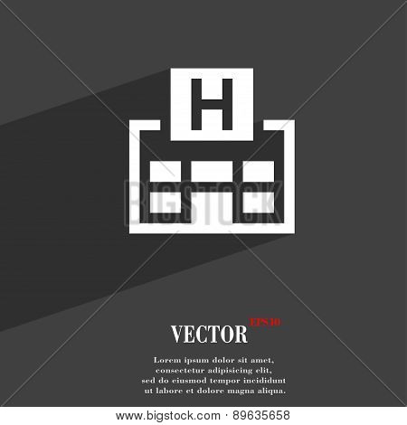 Hotkey Icon Symbol Flat Modern Web Design With Long Shadow And Space For Your Text. Vector