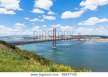 25 De Abril (april) Bridge In Lisbon - Portugal