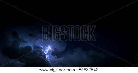 Cloud Thunder Strike And Lightning At Night