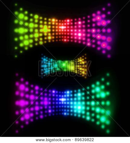 Abstract Blurry Light Wave Illustration In Futuristic Design