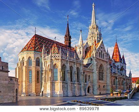Budapest -  Mathias Church At Day
