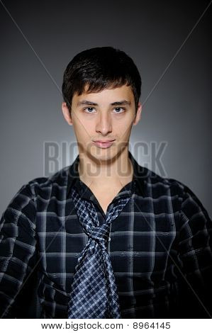 Handsome Man In Funny Shirt And Tie
