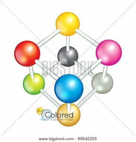 Bright collection of colorful balls
