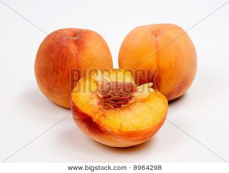 Peach, Fruit, Vegetarian Food, Isolated,
