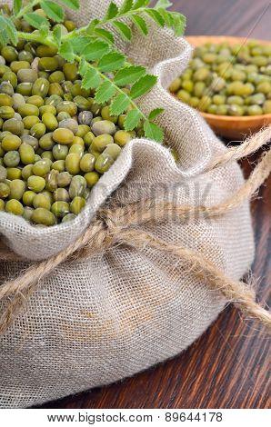 Chickpea Varieties In A Burlap Bag
