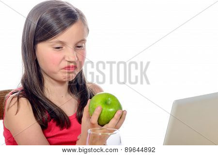 A Little Girl Does Not Want Apples