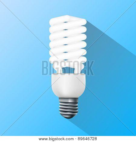 Energy Saving Lamp. Flat Graphics.