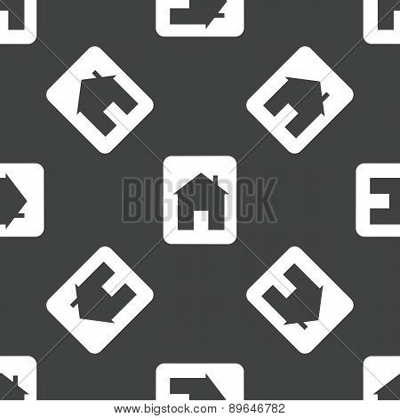 Card with house pattern