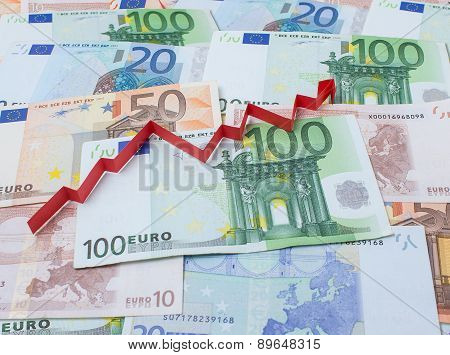 Background Of Euro And Arrow Up