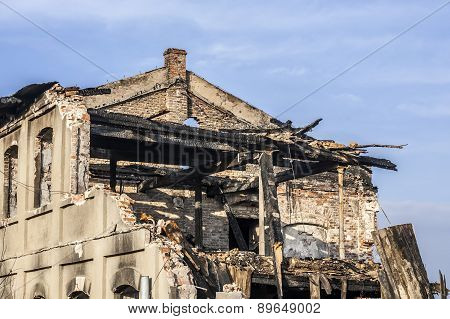 The house after the fire.