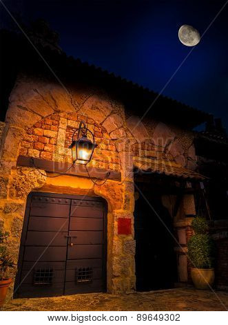 Altos De Chavon At Night