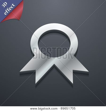 Award, Prize For Winner Icon Symbol. 3D Style. Trendy, Modern Design With Space For Your Text Vector