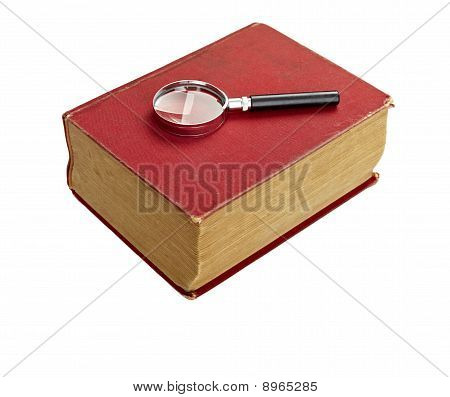 Old Book Knowledge Education Retro Vintage Wisdom Literature Loupe