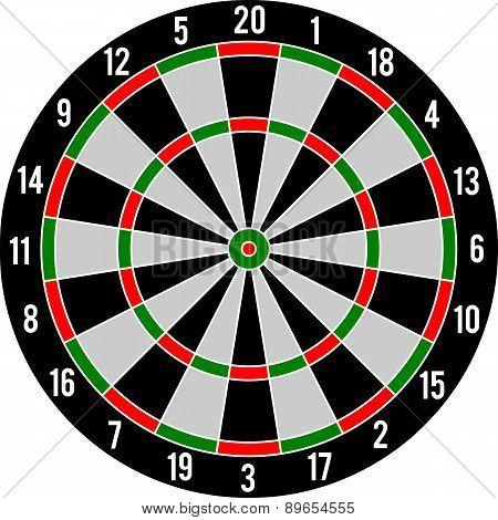 Darts target red & green