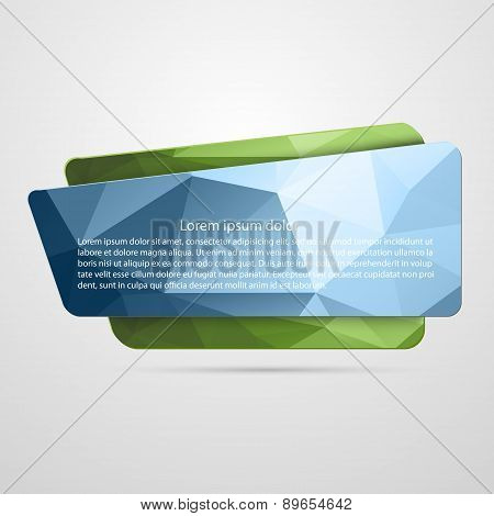 Abstract Vector Banner. Idea Concept.