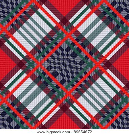 Tartan Seamless Diagonal Texture
