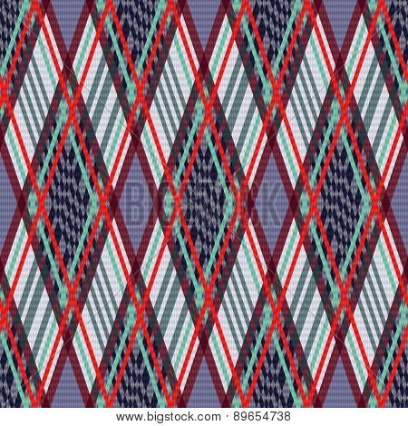 Tartan Seamless Rhombus Texture In Many Colors