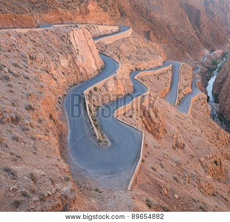 The Zigzag Road To Gorges Du Dades Valley, Morocco