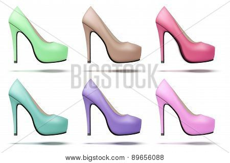 Soft vintage high heels pump woman shoes