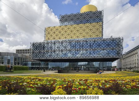 BIRMINGHAM, UNITED KINGDOM - May,3, 2015.- The Library of Birmingham, MECANOO ARCHITECTEN, Centenary Square, Birmingham, England, UK, Western Europe,