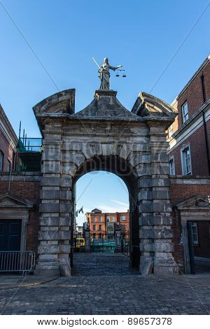 Gate Of Justice At Dublin Castle, Ireland, 2015