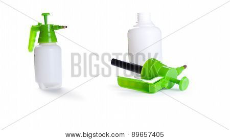 Green Sprayer Can For Flower Spraying Isolated