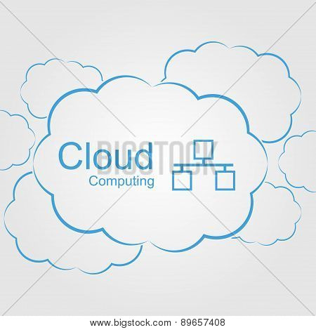 Vector Cloud Computing Concept. Modern Design Template.