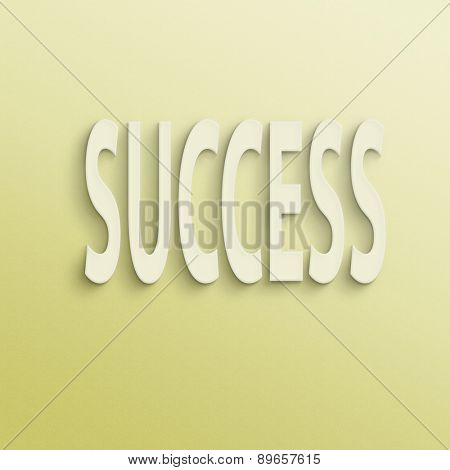 text on the wall or paper, success