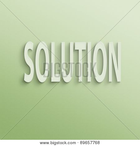 text on the wall or paper, solution