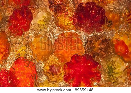 Red And Orange Blown Glass