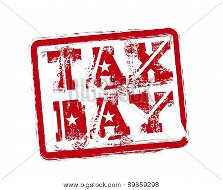Tax Seal Over White Background Vector Illustration