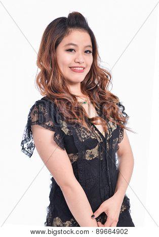 Beautiful asian woman smiling