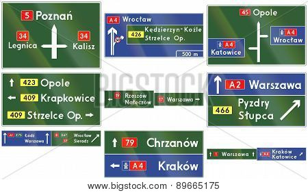 Direction Signs In Poland