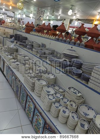 Tunisian pottery at Global Village in Dubai, UAE